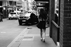 Stopping Traffic (McLovin 2.0) Tags: street streetphotography candid urban style fashion sony a7s 55mm city melbourne heels legs stripes