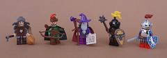 Classic Castle figbarf (-Wat-) Tags: wizard wolfpack forestmen robinhood knight castle lego