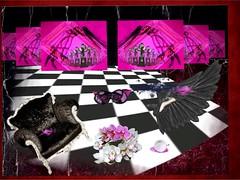 '...a very hasty Exit!' (tishabiba) Tags: montage visage artphoto artwork maitresse illusion digitalmania tish conceptional perception surrealism surreal surreale exit pink