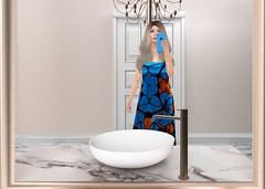 Selfie (Blogging Days) Tags: selfie legendaire mina bathroom wet hair gift iphone home chandelier long shopping