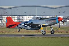 G-SIJJ North American P-51D Mustang Wellesbourne Mountford 14/2/19 (David K- IOM Pics) Tags: wellesbourne mountford airfield egbw north american gsijj p51 p51d mustang usaf