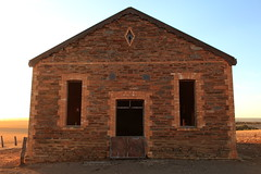 Bondleigh Hall Facade (Darren Schiller) Tags: bondleigh hall southaustralia callington abandoned australia architecture building closed derelict disused decaying deserted dilapidated decay empty evening facade history heritage community bricks stone old rural rustic rusty ruins smalltown