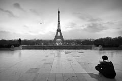 Eiffel tower  transmission (hbensliman.free.fr) Tags: paris architecture travel france landmark eiffel tower black