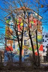 Picture Wall & Trees (orkomedix) Tags: canon eosr rf24105f4l munich germany picture wall graffiti trees walk sunny outdoor