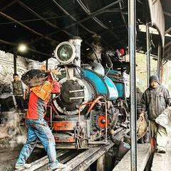 A Class B steam locomotive gets coaled at Kurseong shed on the Darjeeling Himalayan Railway, India. (Chuffer Haynes) Tags: steam locomotive class b 040 saddle tank north british company glasgow darjeeling himalayan railway india