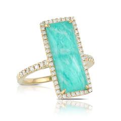 18k Yellow Gold Diamond Ring With White Diamond With Clear Quartz Over Amazonite (diamondanddesign) Tags: 18kyellowgolddiamondringwithwhitediamondwithclearquartzoveramazonite r6271az 18k yellow gold amazon breeze doves rings 04 ct diamond clear quartz over amazonite front