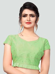 Latest Light Green #SilkSaree Blouse Online on #YOYOFashion. (yoyo_fashion) Tags: blouse greenblouse silkblouse sareeblouse designerblouse