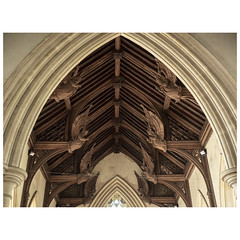 Nave angels (badger_beard) Tags: st michael archangel church churches conservation trust booton norfolk aylsham angels wooden carved wood victorian cct angel roof 19th century decoration ornament