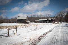 Backroads & Treasure (A. E. Newman) Tags: pennsylvania farm house barn winter cold fence road trees forest sky blue clouds landscape scenic outdoors snow woods travel architecture vacation