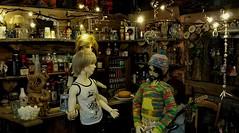 Bar fight (steamwitch) Tags: bjd bjdboys pointlesspub ringdollronald pygmalionha ringdoll pygmalionbjd bottles bar pub moodlighting dragon dolls 13scalediorama