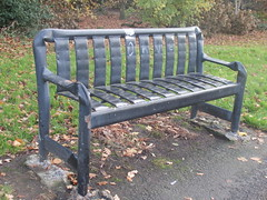 Ormeau - upcycled park bench (shrighley) Tags: bench upcycling