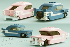 Bye-bye, 2018!! (∅Sepulchure) Tags: classic car lego moc mecabricks cruiser vintage pink chrome vehicle