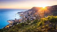 Monaco Sunset (jpmiss) Tags: landscape sunset cotedazur sunburst canon frenchriviera mer paysage jpmiss mediterranée winter mediterraneansea hiver 6d monaco sea paca coucherdesoleil montecarlo 1635mm roquebrunecapmartin alpesmaritimes france fr