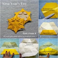 Tutorial New Year's Eve - part 1 (talina_78) Tags: origami star hexagon tutorial