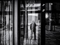 Dirty Old Town (Feldore) Tags: dublin temple bar window broken cracked rundown gritty urban ireland irish street feldore mchugh em1 olympus 17mm 18 selfie reflection