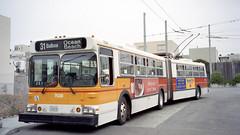 1998-07 San Francisco Trolleybus Nr.7038 (beranekp) Tags: usa san francisco california trolleybus trolley trolebus trolejbus obus filobus tradbus muni 7038