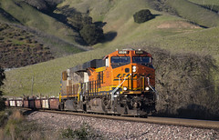 Baretables up the Canyon (imartin92) Tags: christie california bnsf railroad railway freight train ge generalelectric gevo es44ac locomotive crex citirail