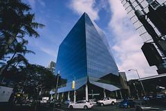 Blue Building (Leighton Wallis) Tags: sony alpha a7r mirrorless ilce7r 55mm f18 emount 1635mm f40 brisbane qld queensland australia building fortitudevalley