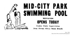 1939 mid-city park swimming pool (albany group archive) Tags: albany ny history 1939 midcity park swimming pool menands old vintage photos picture photo photograph historic historical 1930s