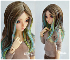 "Wig for MNF ""Jennifer"" (sonya_wig) Tags: fairytreewigs wig bjdwig minifeewig bjd bjdminifee minifeechloe handmadedoll bjddoll dollphoto fairyland fairylandminifee minifee chloe bjdphotographycoloringhair"