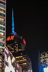 Blue Reaching for the Sky (Jocey K) Tags: sonydscrx100m6 triptocanadaandnewyork architecture buildings evening illumination billboards timessq nighttourhopandhopoffbus