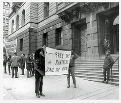 'Free the Panthers; Jail the pigs' - 1971 (Washington Area Spark) Tags: marshall eddie conway black panther party murder trial police officer frame up demonstration protest picket courthouse baltimore maryland 1971 african american shooting