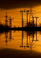Operation Starfish (Brian Cairns) Tags: pylons towers electricity powerlines brianbcairns irreverence levity