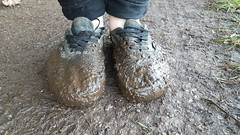 Sockless Vans Authentic Mono Mudding (That Sneaker Lover) Tags: sockless sexy shoes sweaty smelly skater filthy feet foot gay black boy barefoot bi barefeet muddy mud mono mudding emo asmr plimsolls roaming awesome