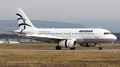 Airbus A319-132 SX-DGF Aegean Airlines (William Musculus) Tags: airplane plane airport spotting aviation sxdgf aegean airlines airbus a319132 basel mulhouse freiburg euroairport eap bsl mlh lfsb william musculus a319100 aee a3