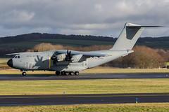 ZM419 A400M Atlas C1 RAF Prestwick 04.02.19 (Robert Banks 1) Tags: zm419 airbus a400 a400m atlas c1 raf royal air force prestwick egpk pik