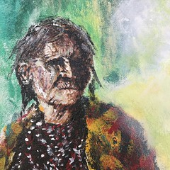 IMG_0946 (Cheryl Gaer Barlow) Tags: painting indian native american face woman impressionistic art paintings