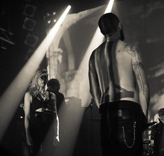 Amenra with Lingua Ignota @ Knust Hamburg (Manu CV) Tags: rock metal sludge concert live gig knust hamburg sony a7s sigma 50mm hsm f14 music portrait monochrome 50mmf14exdghsm amenra churchofra lingua ignota kristin hayter highiso
