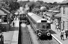 North Weald (R~P~M) Tags: train railway station northweald eppingongarrailway essex dmu 117 steam england uk unitedkingdom greatbritain
