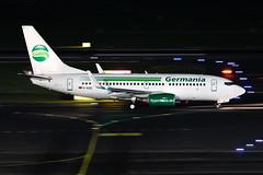 D-AGEL Germania Boeing 737-75B (buchroeder.paul) Tags: eddl dus dusseldorf international airport germany europe ground night dagel germania boeing 73775b