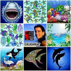 💦💙🐠 #artvsartist2019 🐠💙💦 I love the Ocean, the #Sea, and it's #Creatures 💙 Today I feature some of my #Sealife #Designs & #illustrations 💙 #Licenses are availa (BluedarkArt) Tags: shark illustrations jaws seaturtle sealife oceanlife portfolio licenses water sea aquarium digitalart creatures killerwhale artvsartist2019 designs sale blue undewater fish vectorillustration dolphins seahorses