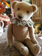 Antique/Vintage Large American Mohair Jointed Teddy Bear (Tamara Tarasiewicz) Tags: antique vintage old teddybear mohair jointed straw american usa unitedstates large americanlargemohairteddybear