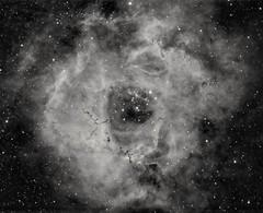 Rosette Nebula in H- Alpha (robfarmiloe) Tags: atik one 60 ts optics tsapo65q space ngc 2238 rosette nebula astrophotography stars telescope