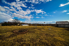 Country farm landscape with a blue sky and clouds (DDM Imaging) Tags: blue sky tree farm grass field clouds sony a7ii sunset day light color colors colour colours farmhouse land landscape outside outdoors country countryside camera sun nature spring a7m2