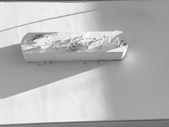 (matthew valencia) Tags: shoesbar santamonica california retro blackandwhite ae artdeco writing