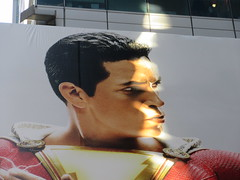 Shazam The Big Red Cheese Billboard 42nd St NYC 3804 (Brechtbug) Tags: shazam billboard 42nd street new captain marvel the big red cheese poster ad nyc 2019 times square movie billboards york city work working worker paint painting advertisement dc comic comics hero superhero alien dark knight bat adventure national periodicals publication book character near broadway shield s insignia blue forty second st fortysecond 03142019 lightning flight flying march