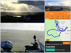 RealRider.. (Mike-Lee) Tags: 42miles sheffieldpeakdistrict snow hail windy sunshine march2019 bike cagivanavigator1000 bikeride collage picasa realrider