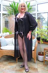 BloMaxblabust-010 (fionaxxcd) Tags: crossdresser crossdressing trannie tranny m2f mtf boygurl transvestite blackpantyhose blacktights bustier highheels crutch blondeheair redlipstick sandals bust rednails cleavage