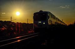 GO 1 (Paul B0udreau) Tags: canada ontario paulboudreauphotography niagara d5100 nikon nikond5100 winter photoshop layer gotrain rail nikkor1855mm beamsville latedaysun sun sunrays