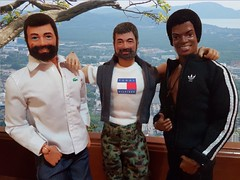 Meeting old friends: Falcon, Joe Colton and Tom Stone. (minimundumzine) Tags: blackpower gijoe adventureteam actionteam actionman bonecofalcon comandosemação hasbro brinquedosestrela palitoy schildkröt cotswold actionfigures 12inches onesixthscale beardedmen afroamerican representativity lacoste tommyhilfiger adidas muscles