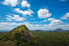 Sky above small mountains (Butterfield & Robinson 1966) Tags: srilanka blue clear cloud clouds cloudscape day green hills idyllic landscape lanka mountain mountains nature shadow sky sri sunny tropical