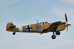 Hispano HA-112 MIL Buchon (G-AWHE) (alex kerr photography) Tags: hispanoha112 me109 messerschmittbf109 duxford flyinglegends airshow ww2 fighter fightercollection