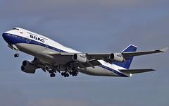 BOAC 747 (British Airways heritage retro) (Infinity & Beyond Photography: Kev Cook) Tags: boac boeing 747 b747 747400 britishairways heritage retro colors coulours colorscheme london heathrow airport lhr planes