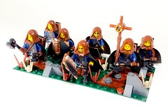 Holy Land Faction Special Unit: Warrior Priests (WarScape) Tags: warscape lego fantasy medieval warrior priest army unti combat minifigure custom specialunit