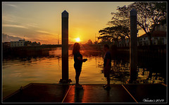 Good Morning (VERODAR) Tags: morning morninglight morningsky river jetty trees clouds sky sun shadow silhouette nikon verodar veronicasridar