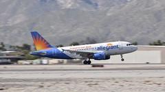 Allegiant Takes to the Air (dauve_787) Tags: desert panshot palmsprings california a320 airbus allegiantair